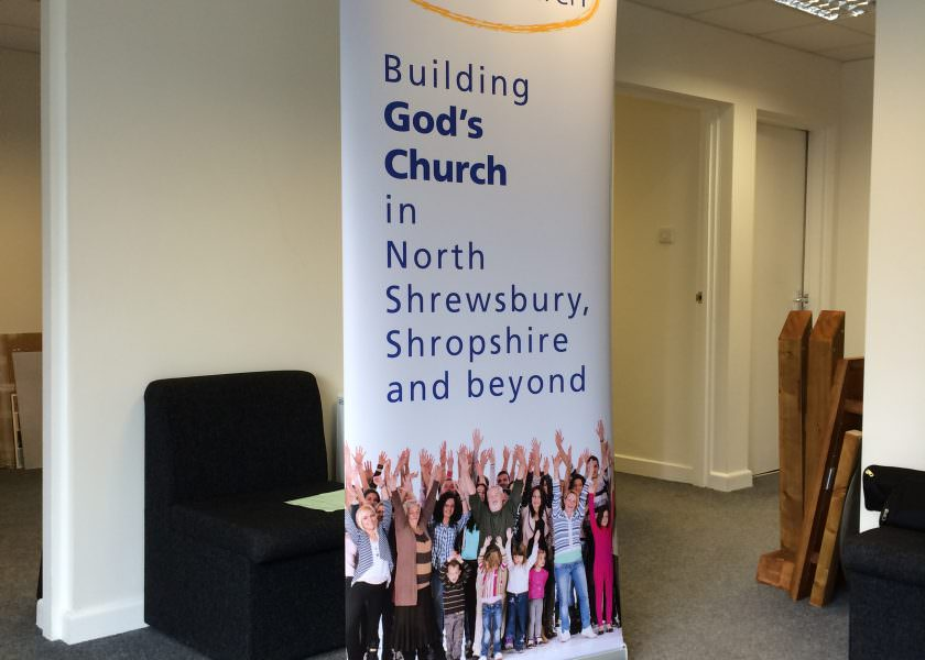 Pop Up or Pull Up banner Shrewsbury