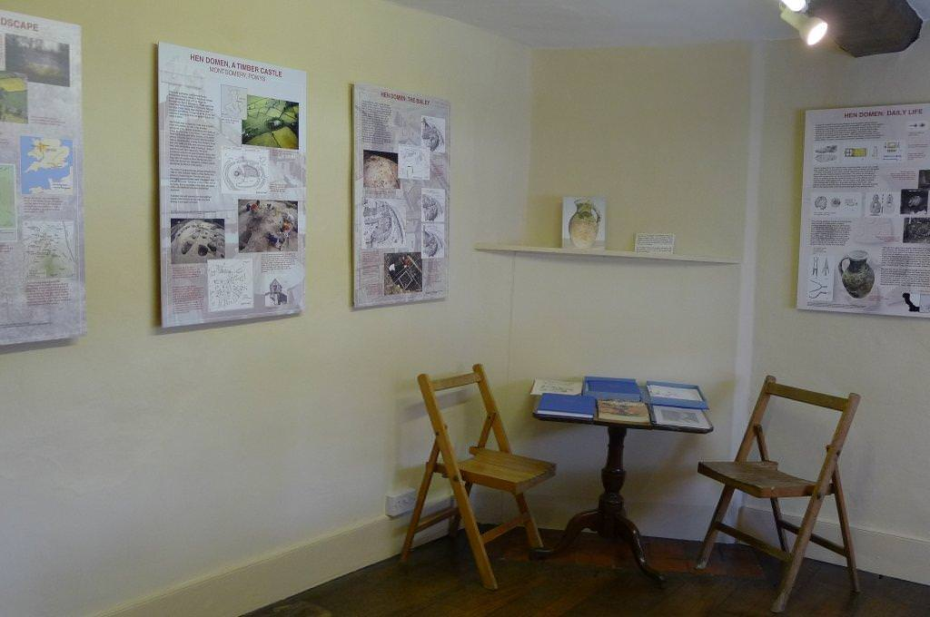 Wall mounted information panels in a small town museum – introducing features of the displays