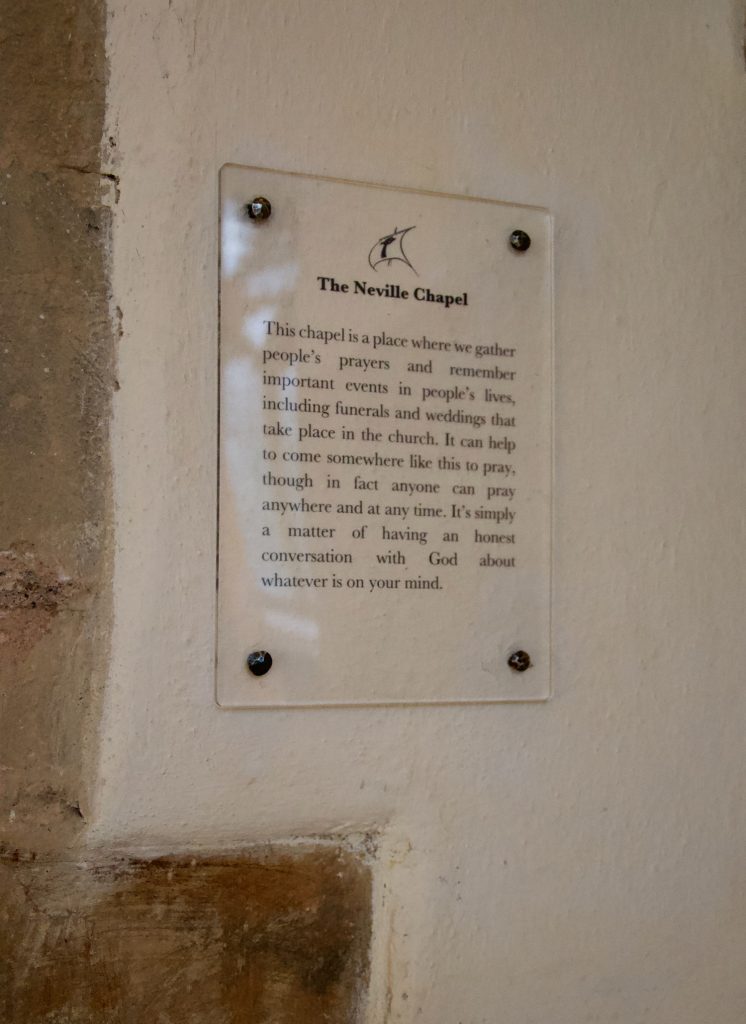 Internal Church interpretation sign